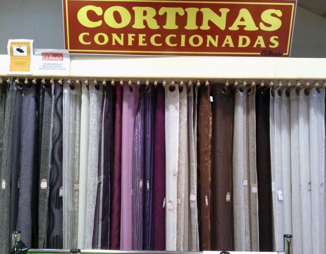Nuestras tiendas tejidos el mundo for Cortinas trabillas confeccionadas