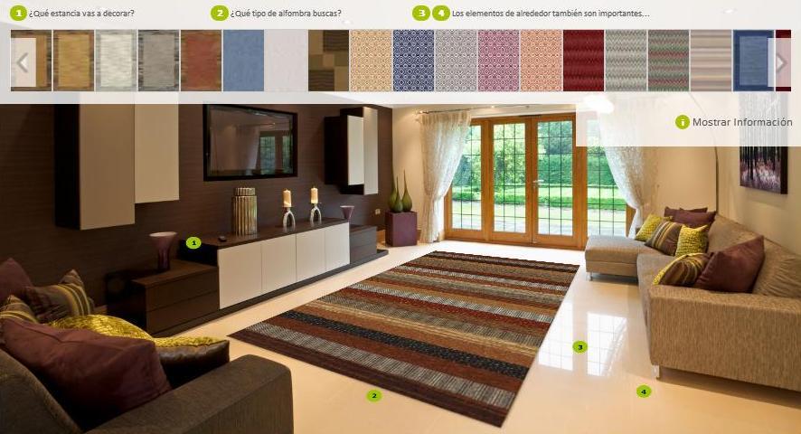 Elegir alfombras es fácil con nuestro simulador