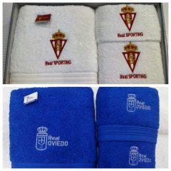 Ganadores de los juegos de toallas del Real Oviedo y Real Sporting de Gijón.